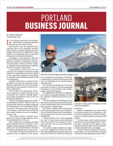 Portland Business Journal Award Page 2